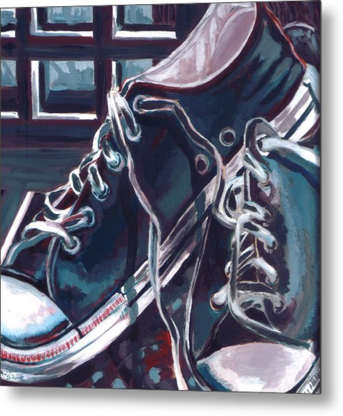 Broken-in Converse Metal Print