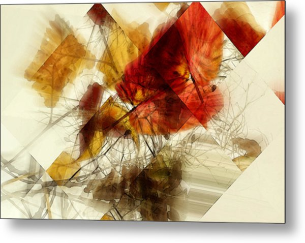 Broken Leaves Metal Print by Martine Affre Eisenlohr