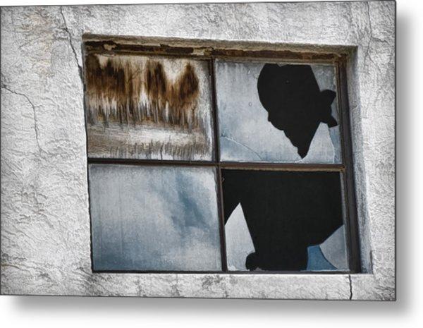 Broken Window Broken Glass Metal Print