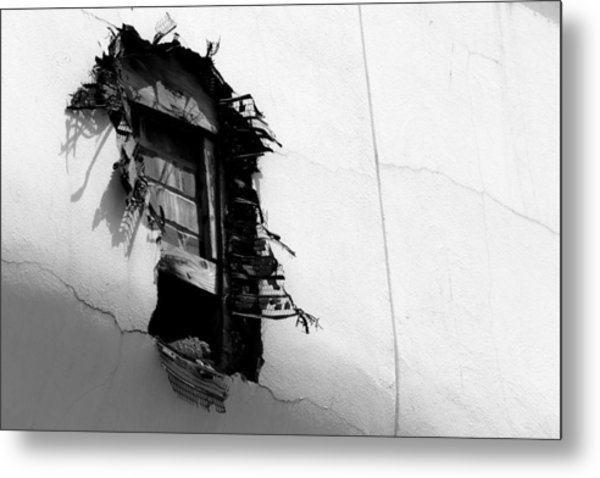 Broken Window Metal Print