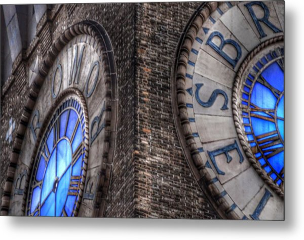 Bromo Seltzer Tower Clock Face #2 Metal Print