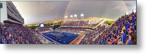 Bronco Stadium Panoramic Metal Print by Lost River Photography