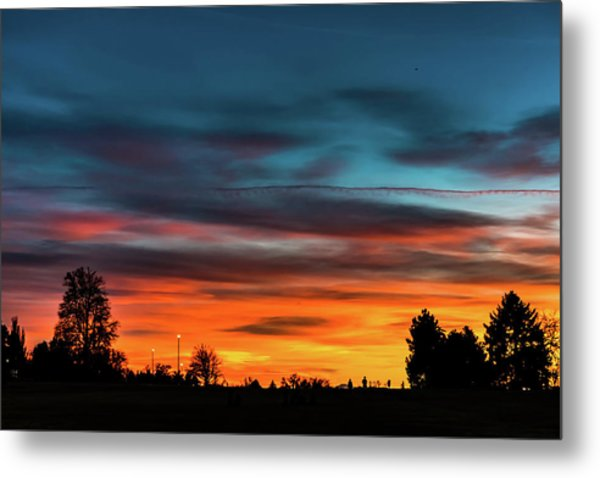 Metal Print featuring the photograph Broncos Sunset In Denver by Philip Rodgers