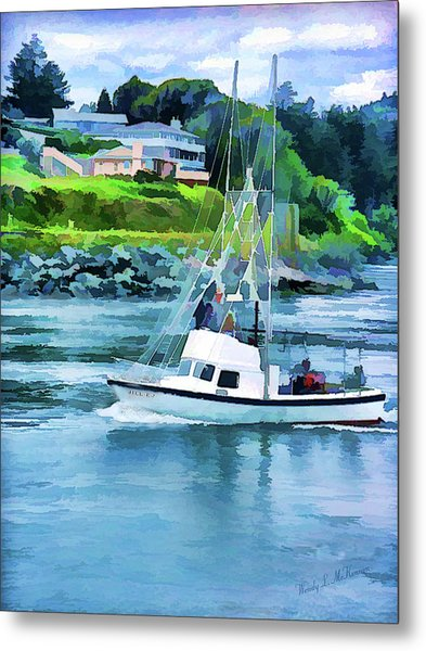 Brookings Boat Oil Painting Metal Print