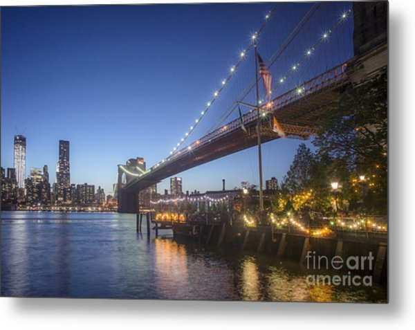 Metal Print featuring the photograph Brooklyn Brdige New York  by Juergen Held