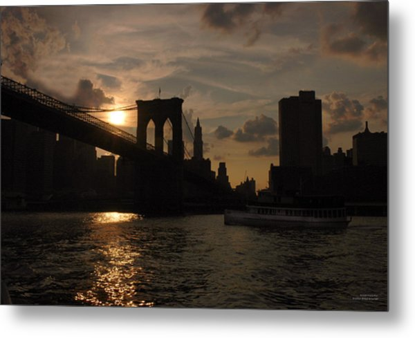 Brooklyn Bridge - Sunset Metal Print