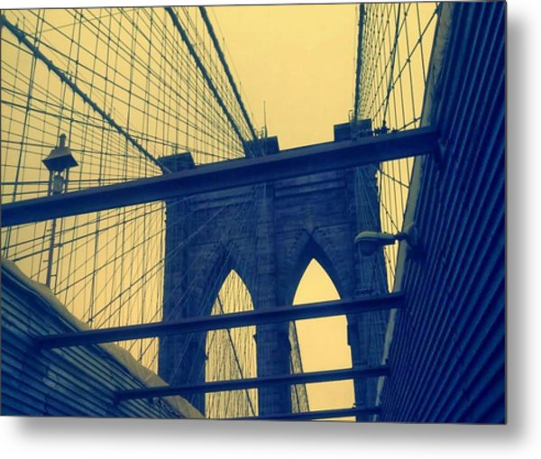 New York City's Famous Brooklyn Bridge Metal Print