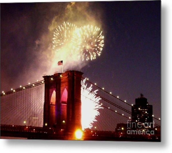 Brooklyn Bridge Celebration Metal Print