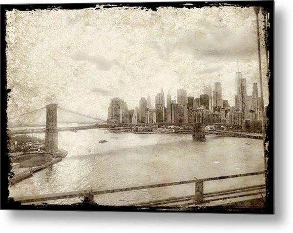 Metal Print featuring the painting Brooklyn Bridge by Joan Reese