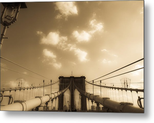 Brooklyn Bridge Metal Print by Patrick  Flynn