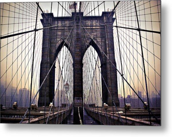Brooklyn Bridge Suspension Cables Metal Print