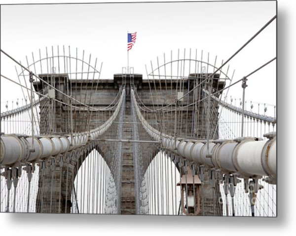 Brooklyn Bridge Top Metal Print