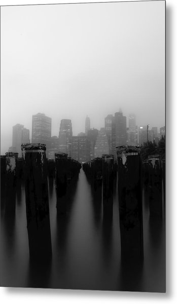 Brooklyn Pilings Metal Print