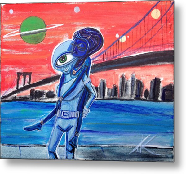 Brooklyn Play Date Metal Print