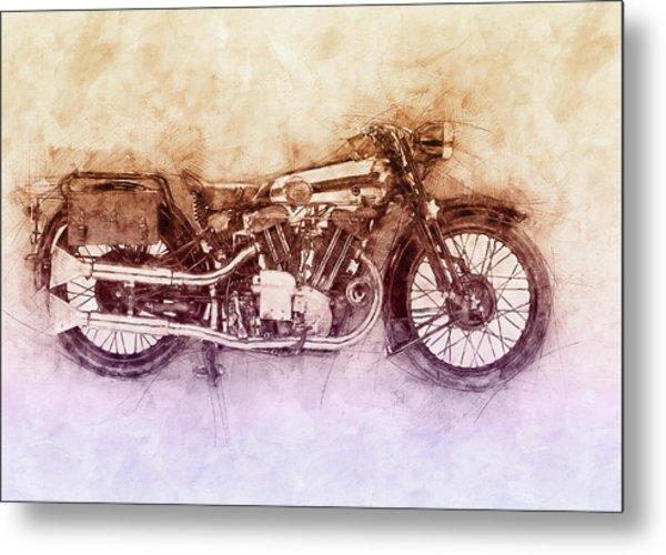 Brough Superior Ss100 - 1924 - Motorcycle Poster 2 - Automotive Art Metal Print