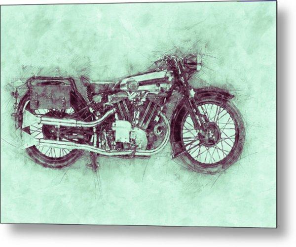 Brough Superior Ss100 - 1924 - Motorcycle Poster 3 - Automotive Art Metal Print