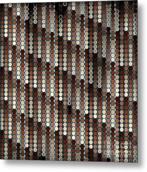 Brown Dot Metal Print