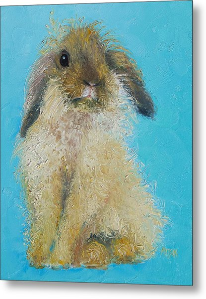 Brown Easter Bunny Metal Print
