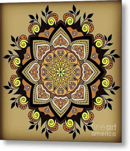 Brown Opal Metal Print