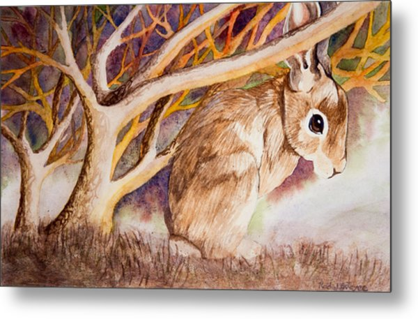 Brown Rabbit Metal Print