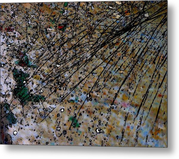 Brown Splatter Metal Print