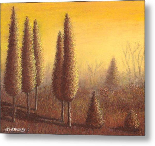 Brown Trees 01 Metal Print