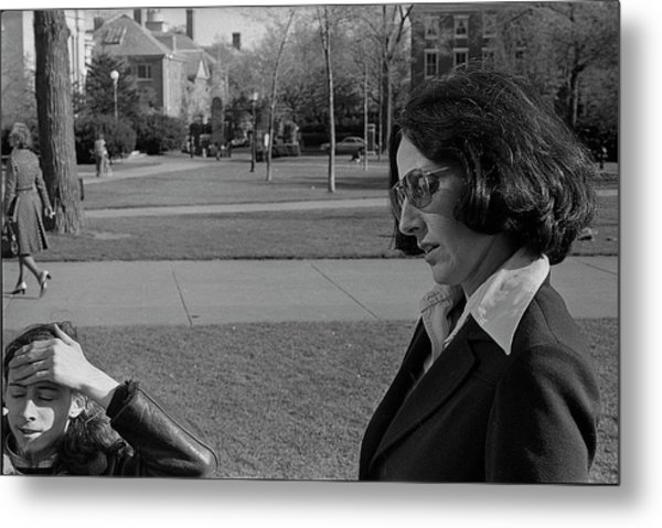 Brown University Student And His Mother, 1975 Metal Print