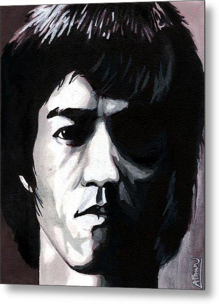 Bruce Lee Portrait Metal Print