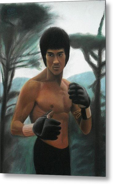 Bruce Lee - The Concentration  Metal Print
