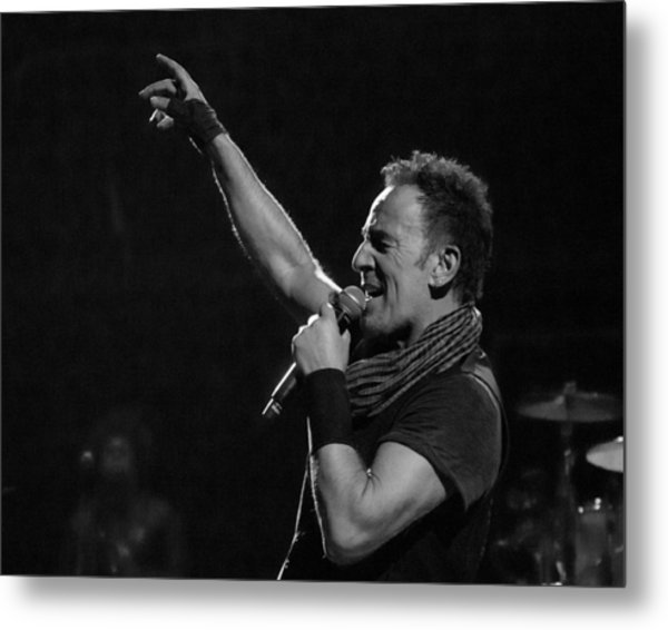 Bruce Springsteen In Cleveland Metal Print