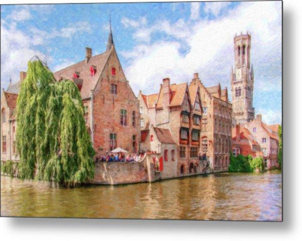 Bruges Canal Belgium Dwp-2611575 Metal Print