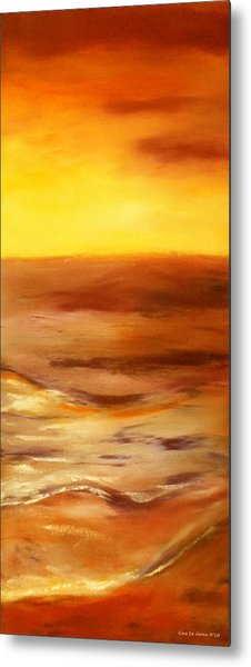 Brushed 5 - Vertical Sunset Metal Print