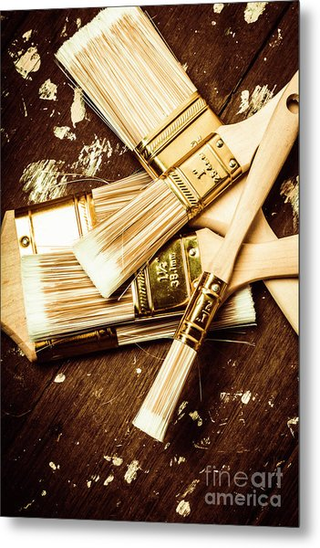 Brushes Of Interior Decoration Metal Print