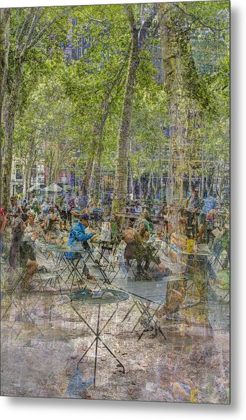 Bryant Park Collage 2 Metal Print