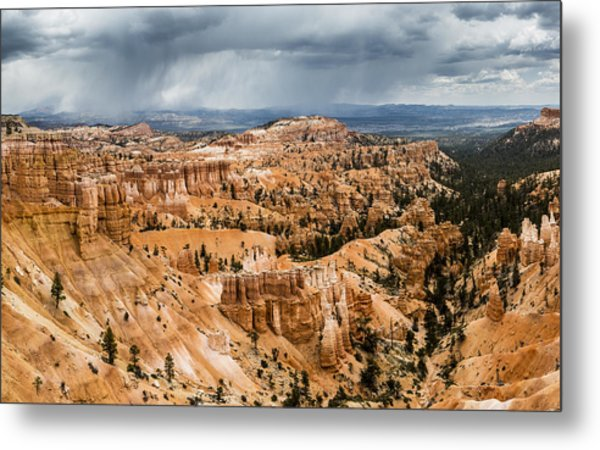 Bryce Canyon Storm Metal Print