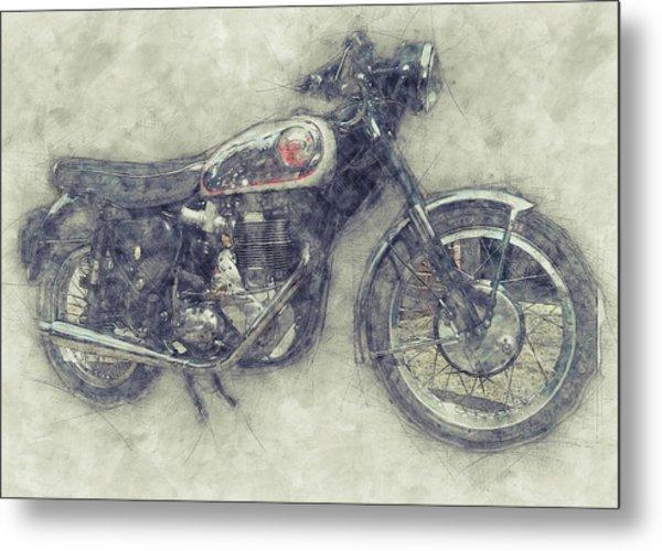 Bsa Gold Star 1 - 1938 - Motorcycle Poster - Automotive Art Metal Print