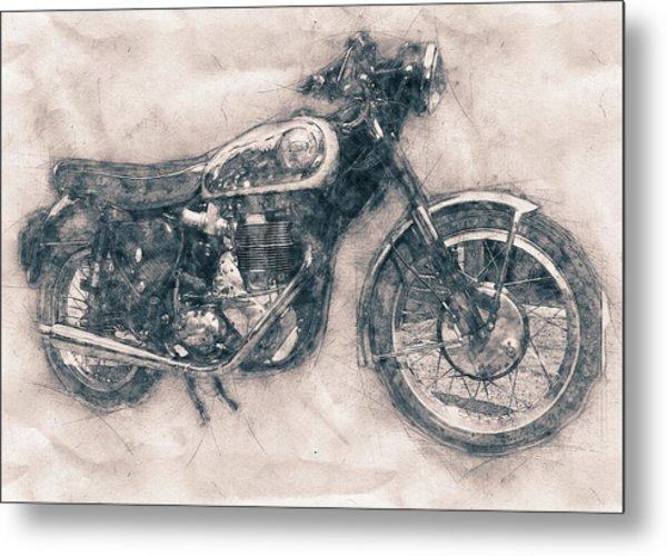 Bsa Gold Star - 1938 - Motorcycle Poster - Automotive Art Metal Print