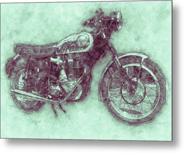 Bsa Gold Star 3 - 1938 - Motorcycle Poster - Automotive Art Metal Print