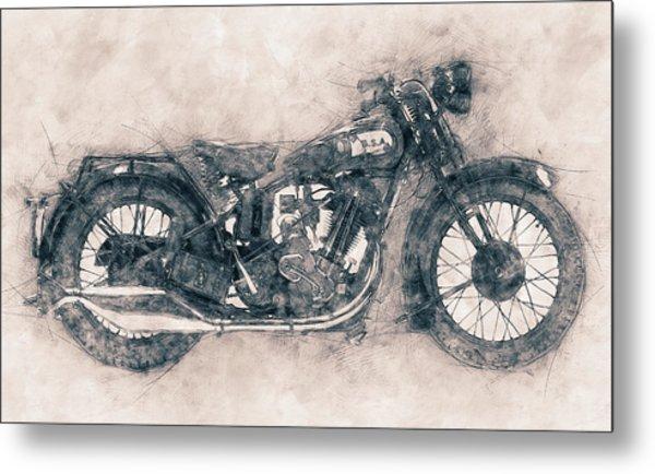 Bsa Sloper - 1927 - Vintage Motorcycle Poster - Automotive Art Metal Print
