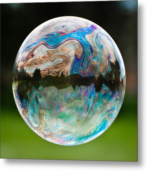 Bubble Metal Print