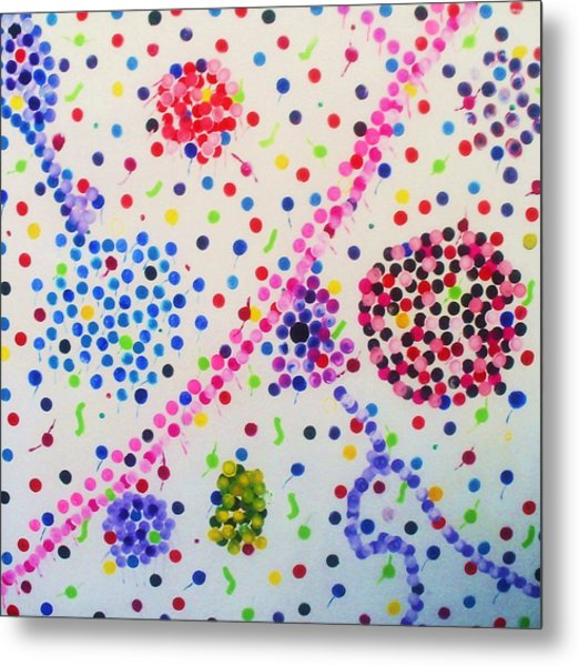 Bubble Gum Metal Print by HollyWood Creation By linda zanini