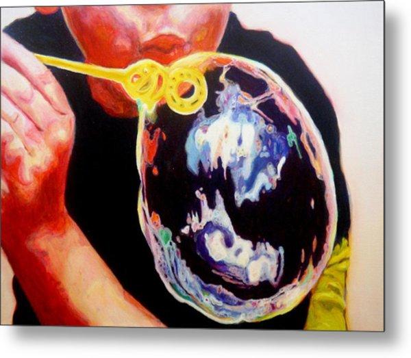 Bubble Metal Print by Lizzie  Johnson