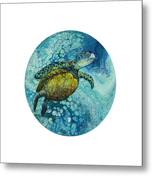Metal Print featuring the painting Bubble Surfer  by Darice Machel McGuire
