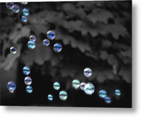 Bubbles Metal Print by Elizabeth Reynders