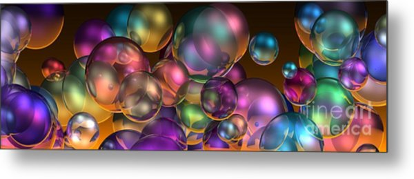 Bubbles Overall Metal Print