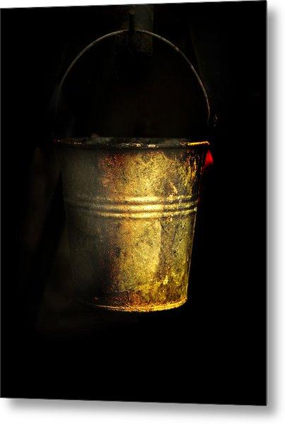 Bucket One Metal Print by Clyde Replogle