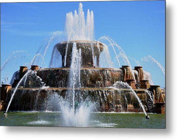 Buckingham Fountain 2 Metal Print