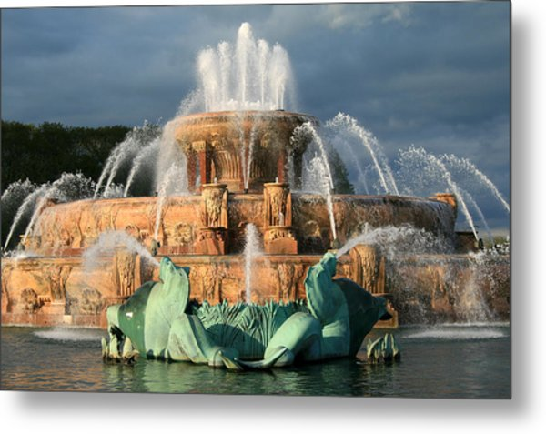Buckingham Fountain Metal Print
