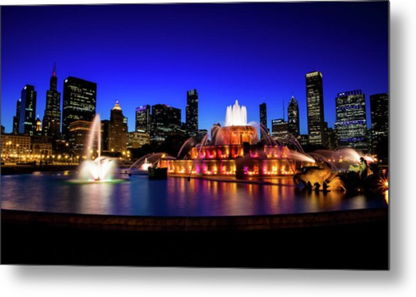 Buckingham Memorial Fountain Metal Print
