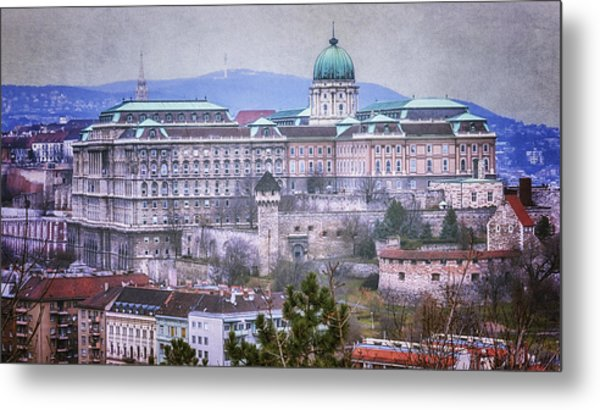 Buda Castle From Gellert Hill Metal Print